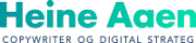 Heine Aaen, copywriter, grønt logo